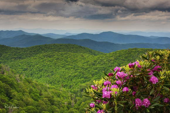 East Fork Overlook on the Blue Ridge Parkway - May 2017